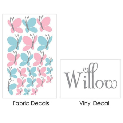 Butterfly Burst Fabric Decal-Decals-One Size-Jack and Jill Boutique