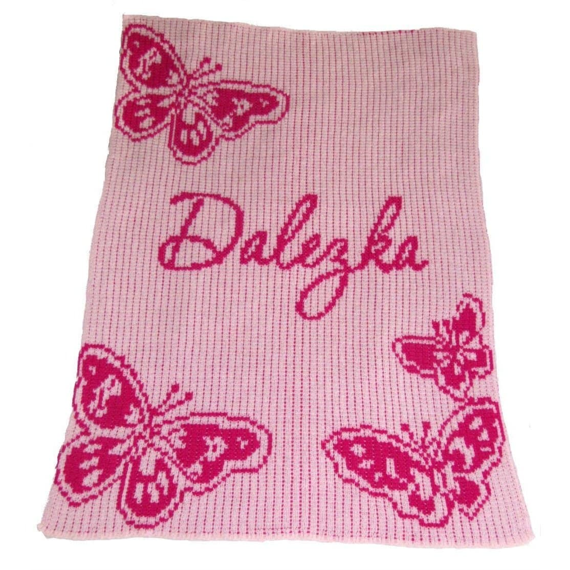 Butterfly Personalized Stroller Blanket or Baby Blanket-Blankets-Jack and Jill Boutique