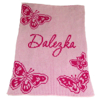 Butterfly Personalized Stroller Blanket or Baby Blanket-Baby Blanket-Jack and Jill Boutique