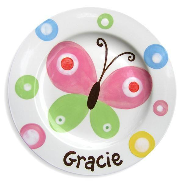Butterfly Sky Hand-Painted Ceramic Plate-Ceramic Plate-Jack and Jill Boutique
