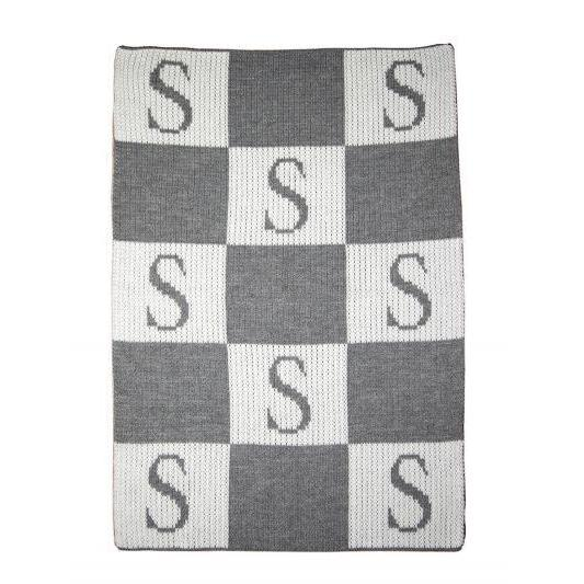 Initial & Blocks Personalized Blanket-Blankets-Jack and Jill Boutique