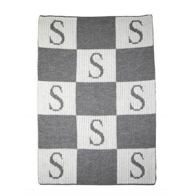 Initial & Blocks Personalized Stroller Blanket or Baby Blanket-Baby Blanket-Jack and Jill Boutique