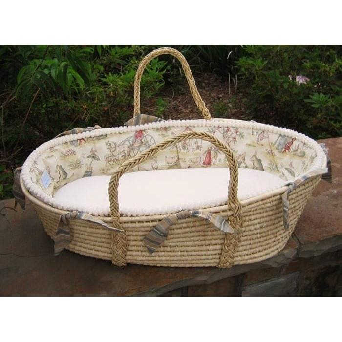 Handmade Moses Basket Bedding : Fairy tale moses basket jack and jill boutique