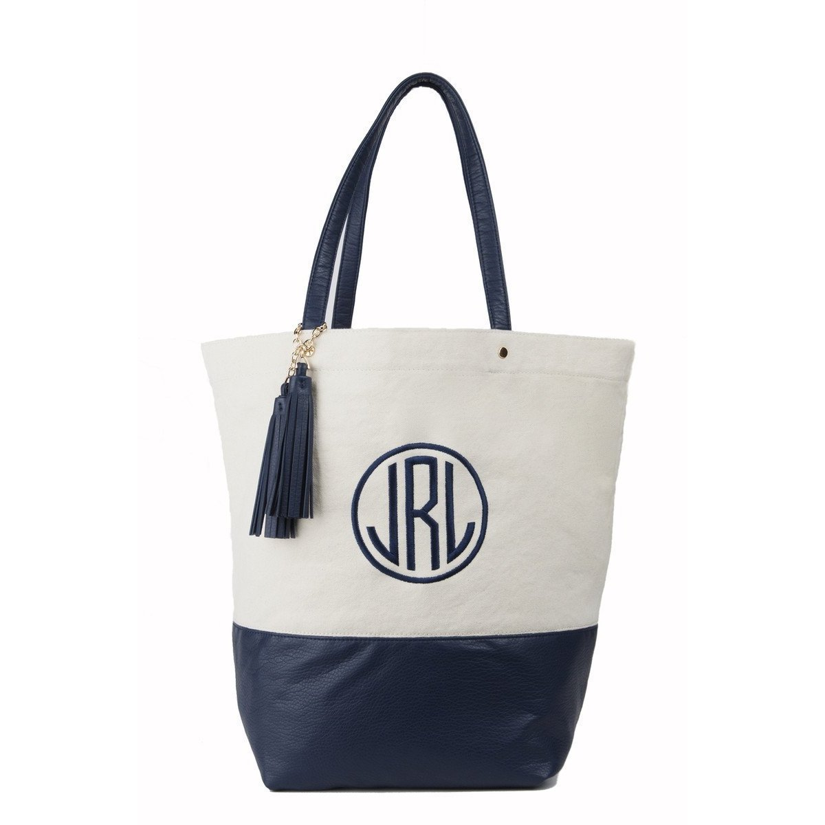 Canvas Monogrammed Personalized Carry All Tote Bag-Bag-Default-Jack and Jill Boutique