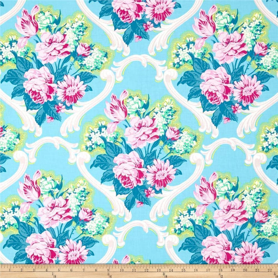 Caravelle Arcade Blue Fabric | 100% Cotton-Fabric-Default-Jack and Jill Boutique