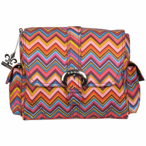 Cassandra Zigzag Midi Matte Coated Buckle Diaper Bag | Style 2959 - Kalencom-Diaper Bags-Jack and Jill Boutique