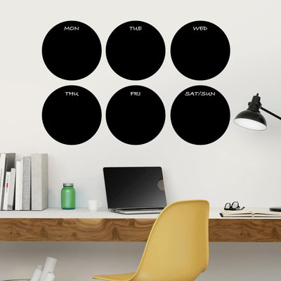 Circle Chalkboard Wall Decals-Decals-Jack and Jill Boutique