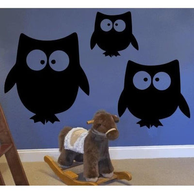 Chalkboard Owls Wall Decal-Decals-Jack and Jill Boutique