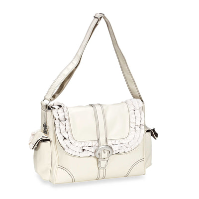 Champagne/Chocolate Miss Prissy Diaper Bag | Style 2960 - Kalencom-Diaper Bags-Default-Jack and Jill Boutique