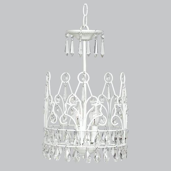 Chandelier - 3-light - Crown - White-Chandeliers-Default-Jack and Jill Boutique