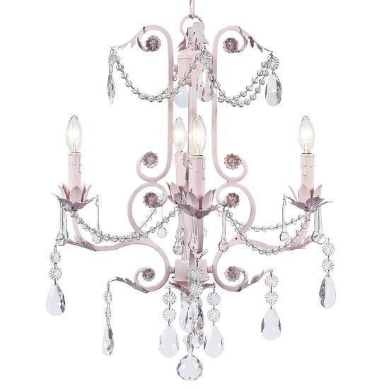Chandelier - 4-arm - Valentino - pink-Chandeliers-Default-Jack and Jill Boutique