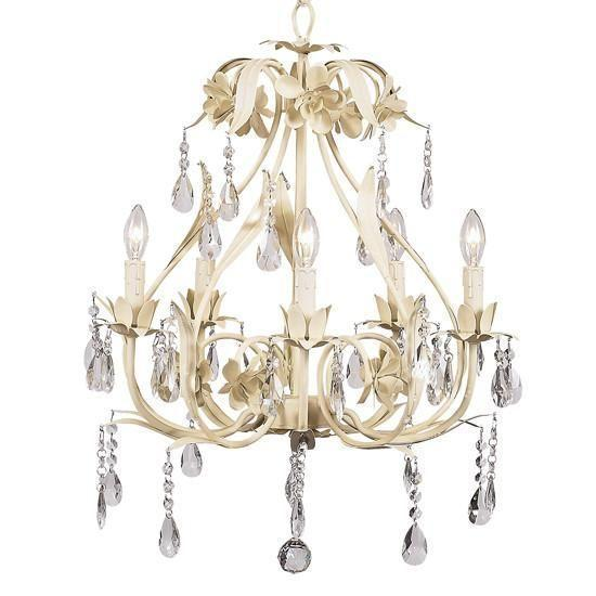 Chandelier - 5-Arm - Ballroom - Ivory-Chandeliers-Default-Jack and Jill Boutique