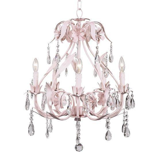 Chandelier - 5-Arm - Ballroom - Pink-Chandeliers-Default-Jack and Jill Boutique