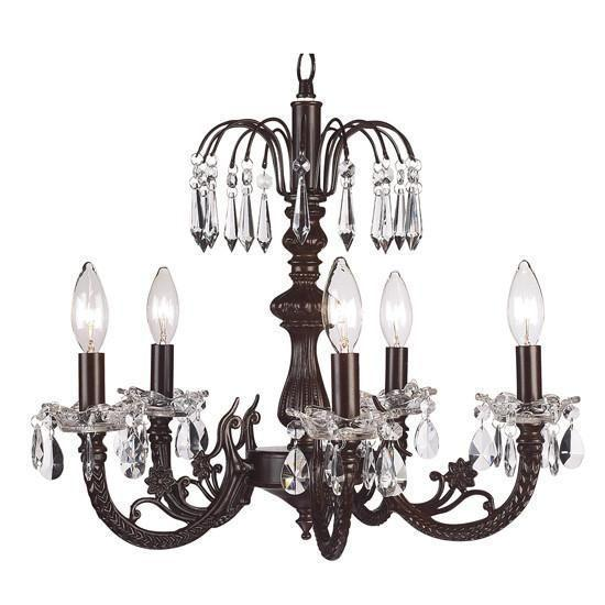 Chandelier - 5-arm Water Fall - Mocha-Chandeliers-Default-Jack and Jill Boutique
