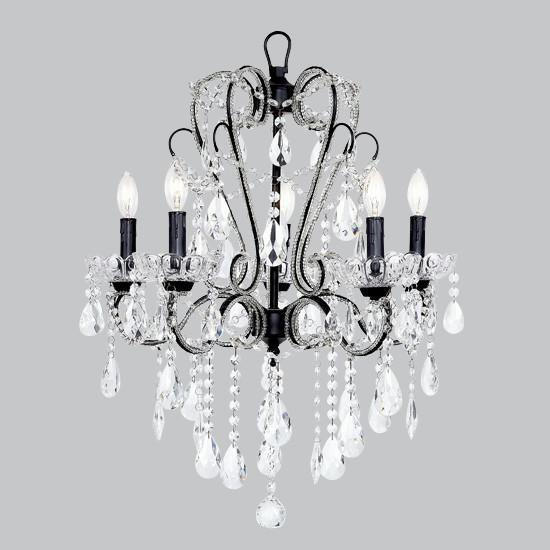 Chandelier - 5 Light - Carousel - Black-Chandeliers-Default-Jack and Jill Boutique