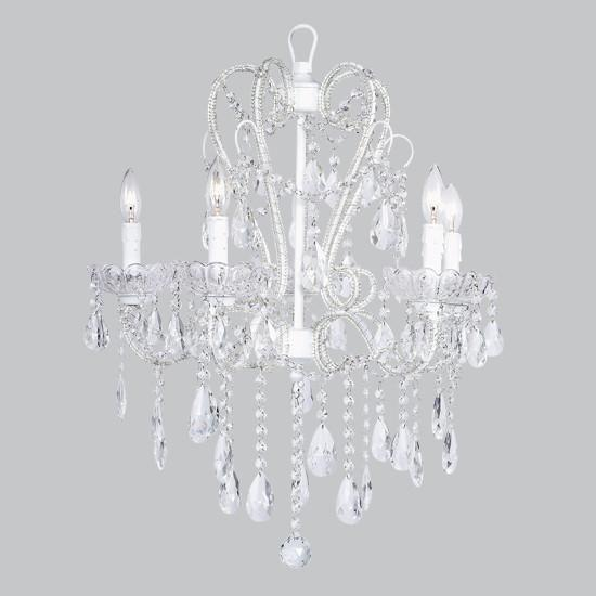 Chandelier - 5 Light - Carousel - White