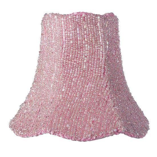 Chandelier Shade -Glass Bead on Fabric - Pink-Chandelier Shades-Default-Jack and Jill Boutique