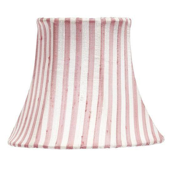 Chandelier Shade - Pink & White Stripe