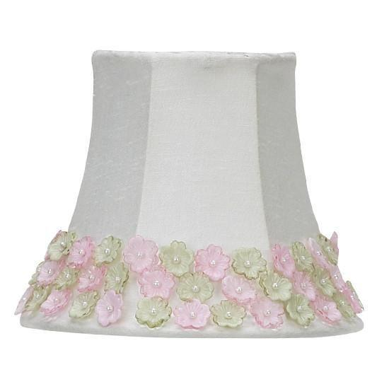 Chandelier Shade - Pink/Green Flower Border-Chandelier Shades-Default-Jack and Jill Boutique