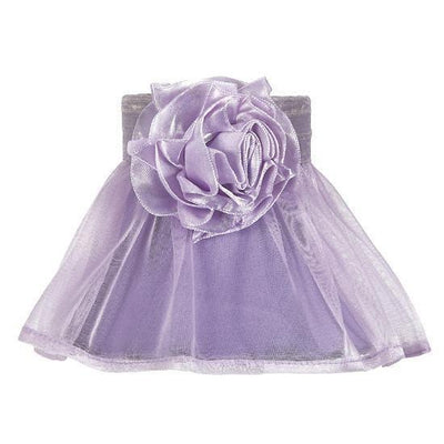 Chandelier Shade - Ruffled Sheer Skirt - Lavender with Lavender Rose Magnet-Chandelier Shades-Default-Jack and Jill Boutique