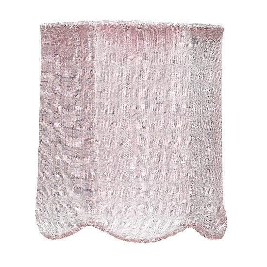 Chandelier Shade - Scallop Drum - Pink