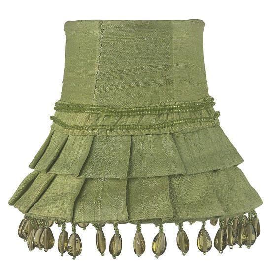 Chandelier Shade - Skirt Dangle - Green-Chandelier Shades-Default-Jack and Jill Boutique