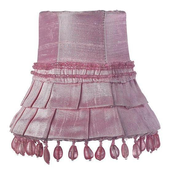 Chandelier Shade - Skirt Dangle - Pink-Chandelier Shades-Default-Jack and Jill Boutique