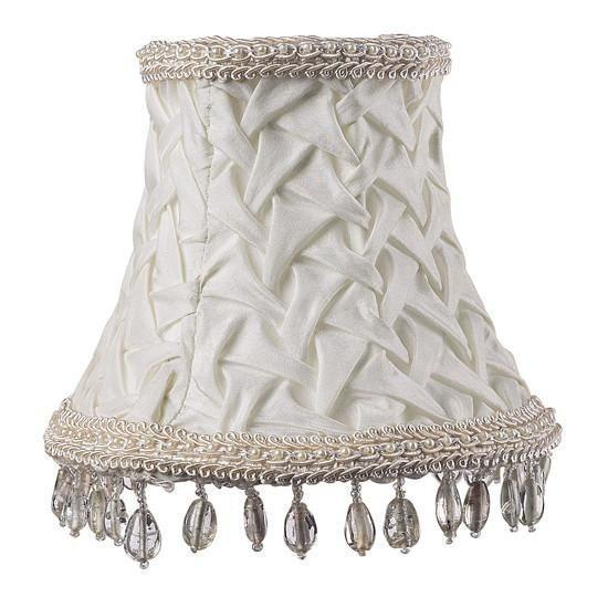 Chandelier Shade - Smock w/Dangle - Ivory-Chandelier Shades-Default-Jack and Jill Boutique