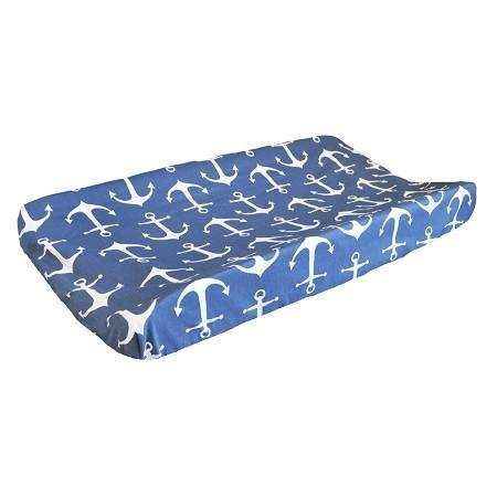 Changing Pad Cover | Anchors Away in Navy Nautical-Changing Pad Cover-Default-Jack and Jill Boutique