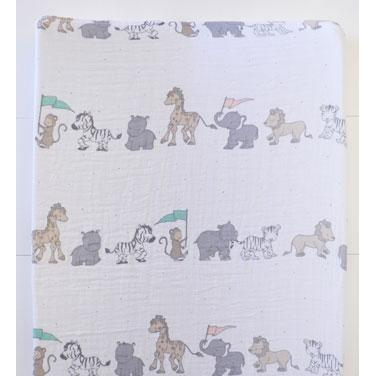 Changing Pad Cover | Animal Parade Crib Baby Bedding Set-Changing Pad Cover-Default-Jack and Jill Boutique