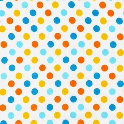 Changing Pad Cover | Aqua & Orange Polka Dot Carnival-Changing Pad Cover-Default-Jack and Jill Boutique