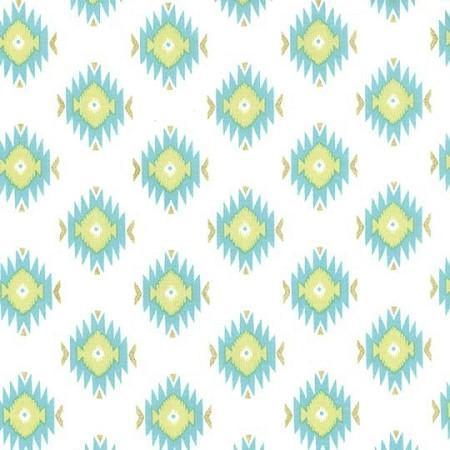Changing Pad Cover | Aztec Baby in Aqua-Changing Pad Cover-Default-Jack and Jill Boutique