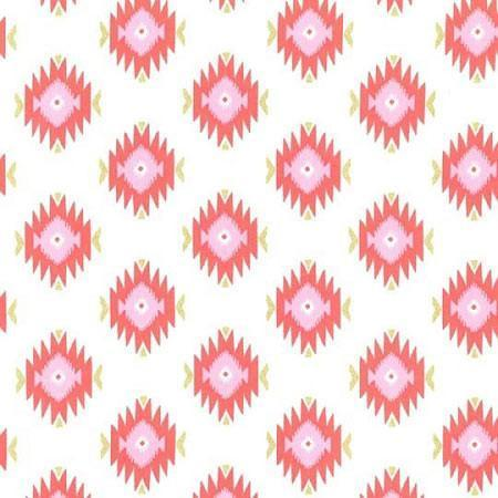 Changing Pad Cover | Aztec Baby in Coral-Changing Pad Cover-Default-Jack and Jill Boutique