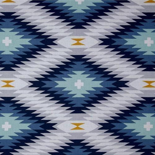Changing Pad Cover | Aztec Wander in Blue-Changing Pad Cover-Default-Jack and Jill Boutique
