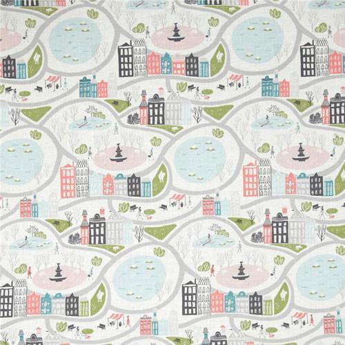Changing Pad Cover | Coral In the City Baby Bedding Set-Changing Pad Cover-Default-Jack and Jill Boutique