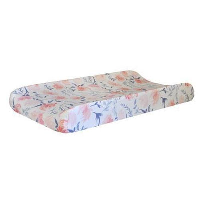 Changing Pad Cover | Floral Rosewater in Peach-Changing Pad Cover-Default-Jack and Jill Boutique