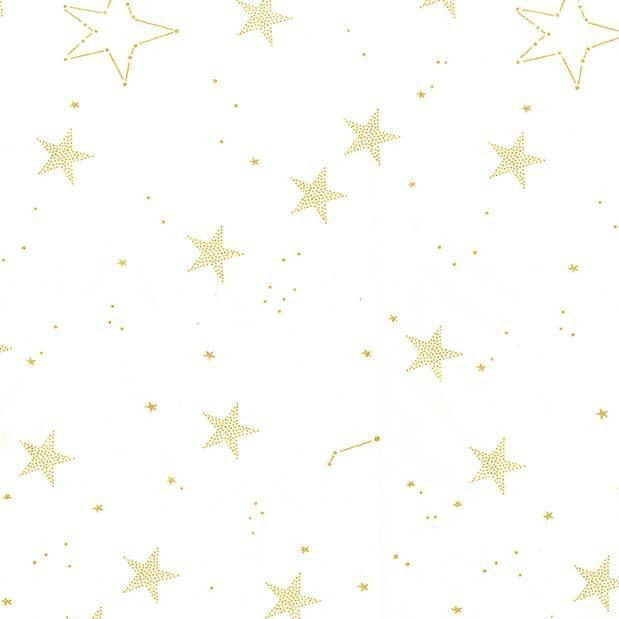 Changing Pad Cover - Gold | Lucky Stars in White-Changing Pad Cover-Default-Jack and Jill Boutique