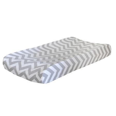 Changing Pad Cover | Gray Chevron Zig Zag Baby-Changing Pad Cover-New Arrivals-Jack and Jill Boutique