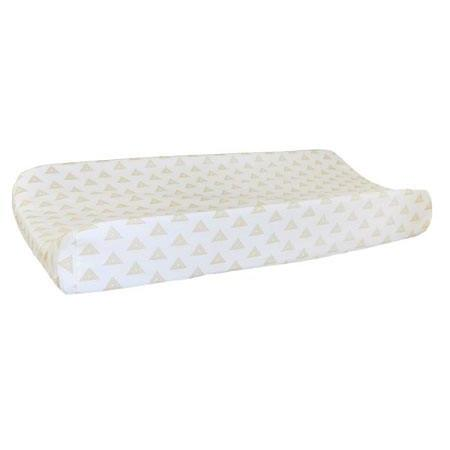 Changing Pad Cover | Gray & Gold Tribal Head West-Changing Pad Cover-Default-Jack and Jill Boutique