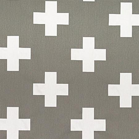 Changing Pad Cover | Gray Swiss Cross
