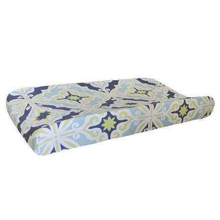Changing Pad Cover | Lime Green & Navy Starburst in Kiwi-Changing Pad Cover-Default-Jack and Jill Boutique