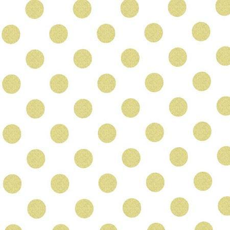 Changing Pad Cover | Metallic Gold Polka Dots