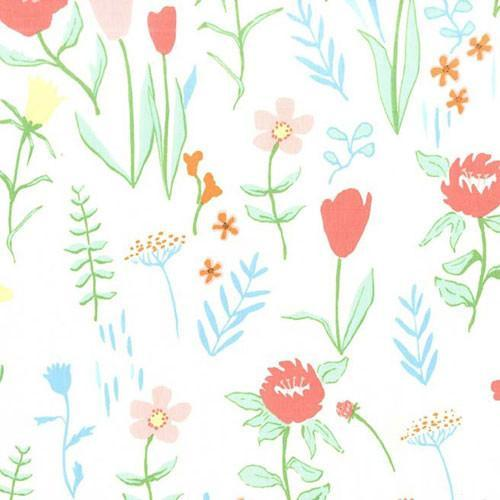 Changing Pad Cover | Mint Spring Floral-Changing Pad Cover-Default-Jack and Jill Boutique