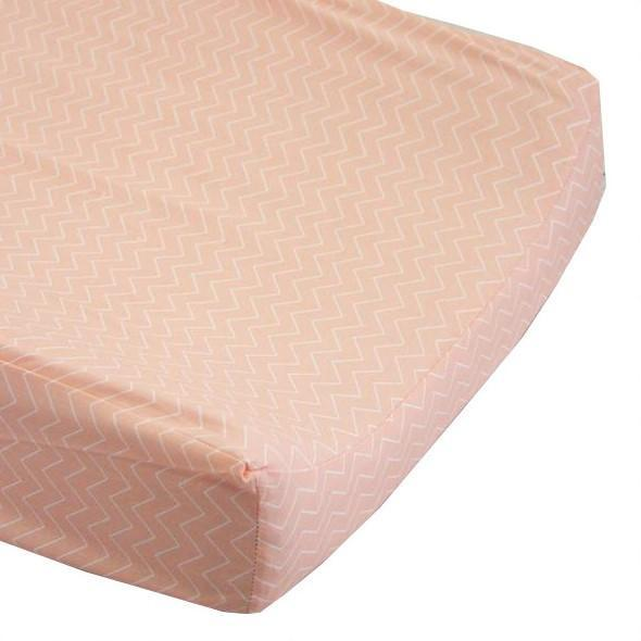 Changing Pad Cover - Peach Chevron-Changing Pad Cover-Default-Jack and Jill Boutique