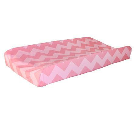 Changing Pad Cover | Pink Chevron Zig Zag Baby in Pink Sugar