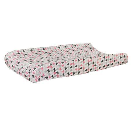 Changing Pad Cover | Pink & Gray Paper Moon