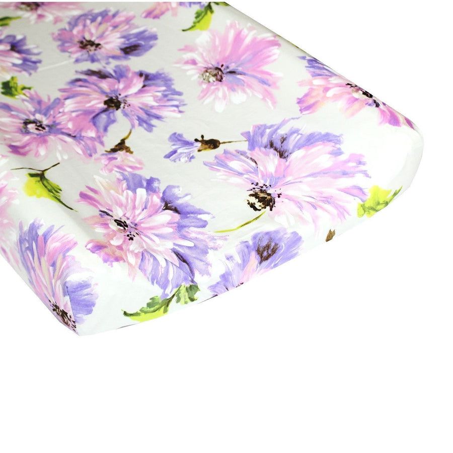 Changing Pad Cover | Purple Blossom Tallulah-Changing Pad Cover-Bold Bedding-Jack and Jill Boutique