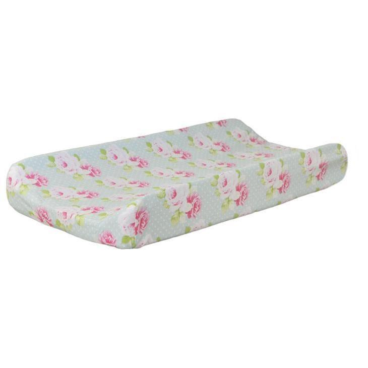 Changing Pad Cover | Sadie's Dance in Aqua Bumperless