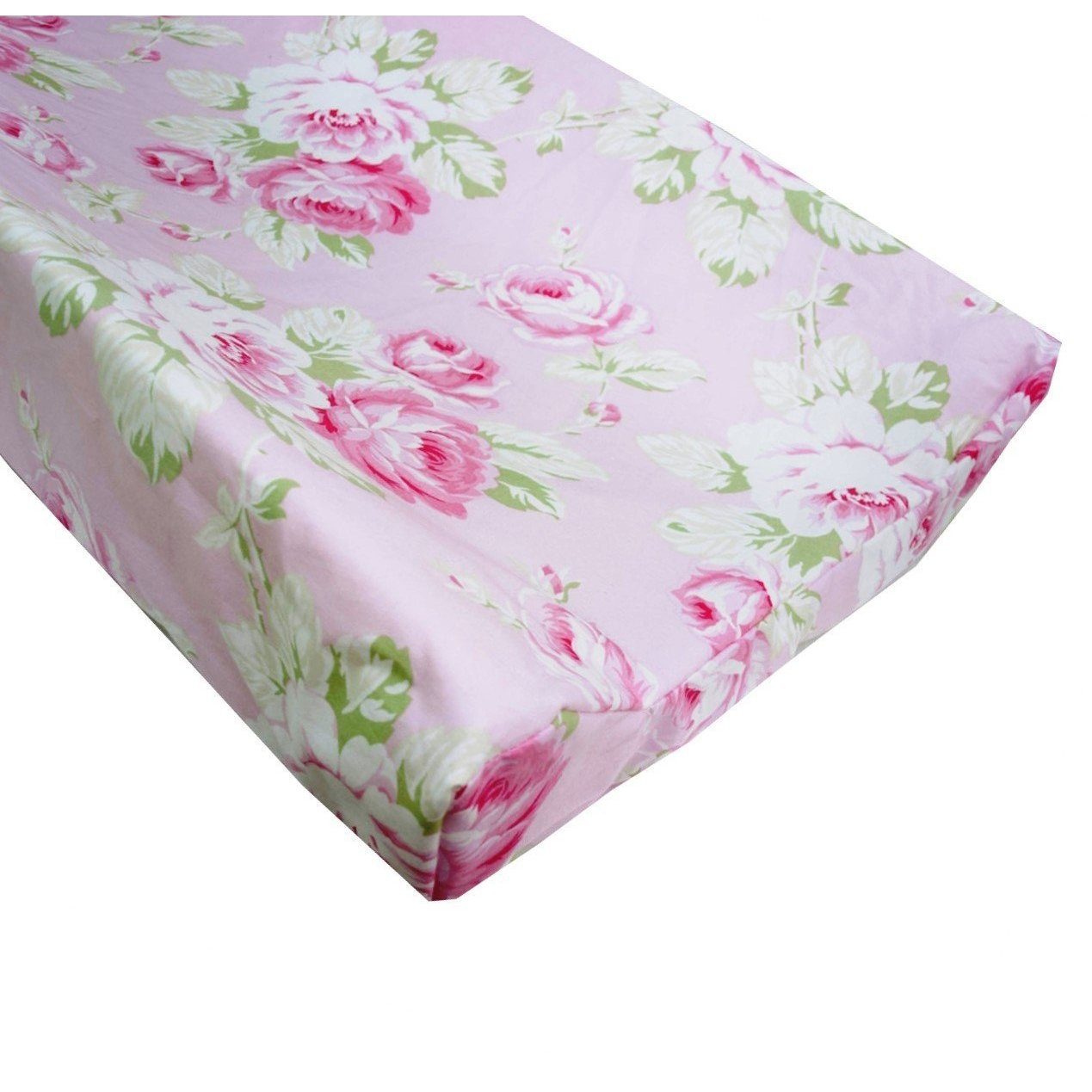 Changing Pad Cover | Shabby Chic Roses Ruffle-Changing Pad Cover-Bold Bedding-Jack and Jill Boutique