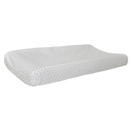 Changing Pad Cover | White Pebble Moon-Changing Pad Cover-New Arrivals-Jack and Jill Boutique